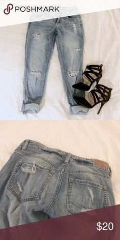 """⚡️Flash Sale⚡️Garage Distressed Boyfriend Jeans Can be rolled down to full length. """"skinny stretch"""" fit in a 00 but I am 4""""11 98lbs and they fit me baggy like a boyfriend jean. On a larger person they may fit more like a skinny jean. Garage Jeans Boyfriend"""