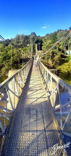 Karangahake Gorge suspension bridge, Coromandel Peninsula, North Island, New Zealand