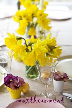 Our table from last Easter... great place to start.