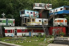 Trailers on Shipping Containers