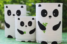 Panda Craft, Pencil Holder, Animals For Kids, Back To School, Art Projects, Crafts For Kids, Baby Shoes, Paper Crafts, Mugs