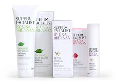 Super Facialist by R design  Una Brennan is one of the accomplished facialists and skincare specialists in theUK with over 15 years experience. Una wanted to launch her own brand of skincare products using only natural extracts and high performance scientific ingredients.     The solution  A clean, authoritative and fresh look butin an approachable friendly way. Using strong sophisticated typography and a clean fresh colour palette.     Results  Already early signs are very good.