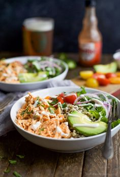 Buffalo Chicken Quinoa Bowls topped withavocado, tomato, shredded buffalo chicken, drizzled with ranch and served on a bed of quinoa. Football food just got a healthy facelift! This past Sunday I sat in my chair looking up at the stage in the elementary school we hold our new church. Jacob, our worship pastor, was up there leading worship like he does every week .. but for some reason this time felt different. I have been a journey the past seven or so months. A journey of confusion, anger…