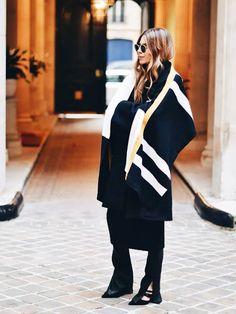 blanket coat: Would You Wear It? Fall's Coziest Coat Trend via @WhoWhatWear
