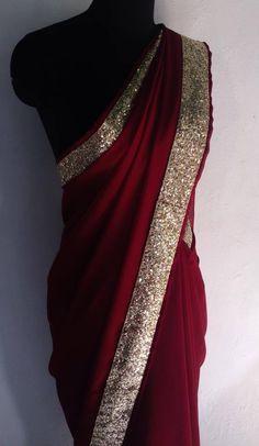 J Lindeberg Womens Golf Clothing Saree Designs Party Wear, Party Wear Sarees, Saree Blouse Designs, Trendy Sarees, Stylish Sarees, Fancy Sarees, Indian Dresses, Indian Outfits, Indian Attire