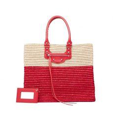 Collezione borse Balenciaga Primavera Estate 2014 - Shopper Panier Balenciaga in rafia bicolor - #bags #bag #balenciaga