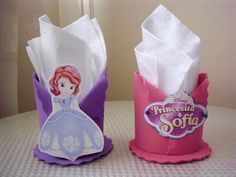 Como hacer servilleteros de princesas - Imagui Sofia The First Birthday Party, Baby Birthday, Mickey Mouse Parties, Mickey Mouse Birthday, Toy Story Birthday, Toy Story Party, Princes Sofia, Princess Sofia Party, Tinkerbell Party