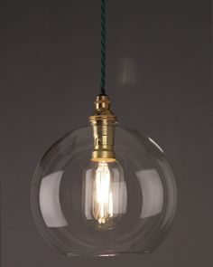 Globe Light Hereford Clear Glass Globe Pendant Light - Pendant Lighting - Ideas of Pendant Lighting Lounge Lighting, Hall Lighting, Lighting Ideas, Kitchen Pendant Lighting, Ceiling Pendant, Ceiling Lights, Hereford, Restoration Hardware Lighting, Globe Pendant Light