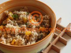 Detail receptu - Kuskus s tuňákem a kukuřicí Couscous, Fried Rice, Quinoa, Fries, Food And Drink, Cooking Recipes, Lunch, Dinner, Ethnic Recipes