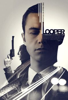 Looper - poster designed by Elena De Pablo Rodríguez Poster Layout, Poster Ads, Graphic Design Posters, Graphic Design Typography, Graphic Design Inspiration, Poster Designs, Gfx Design, Flyer Design, Logo Design