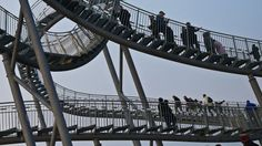 The Crouching Tiger and Turtle, a roller coaster walkway located in Duisberg, Germany,