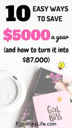 Want to learn how to easily save $5,000 a year and turn that $5,000 into $87,000? Continue reading to find out how #fundkeylife #invest #saving Save Money On Groceries, Ways To Save Money, Earn Money, How To Make Money, Money Saving Challenge, Money Saving Tips, Investment Advice, Financial Tips, Budgeting Tips