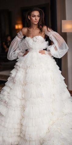 Wedding Dresses Wedding Dresses Fall See The New Trends ❤️ wedding dresses fall 2019 ball gown ruffled skirt detached sleeves millanova Western Wedding Dresses, Wedding Dress Trends, Black Wedding Dresses, Princess Wedding Dresses, Bridal Dresses, Ball Dresses, Ball Gowns, Dresses Dresses, Evening Dresses