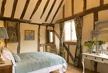 One of the double bedrooms in the Suffolk holiday cottage