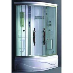 Ασύμμετρη Μπανιέρα με Καμπίνα & Στήλη Υδρομασάζ GONA 120*80 - Flobali #bath #bathtub #bathtubs #bathtubdesign #bathdesign #bathdecor #bathdesigns #bathdesigner #bathdesignideas #design #designs #designbathroom