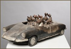 Pottery Animals, Ceramic Animals, Animal Sculptures, Sculpture Art, Clay Crafts, Arts And Crafts, Ceramic Clay, Clay Art, Art Dolls