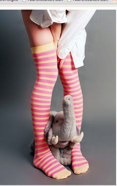 Fetish cable knee socks