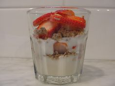 strawberry, yogurt and granola parfait (we have a great homemade granola recipe on pathwaystolife.ca too!)