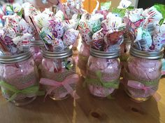 Mason Jars - Baby Shower - Center pieces - Baby Girls