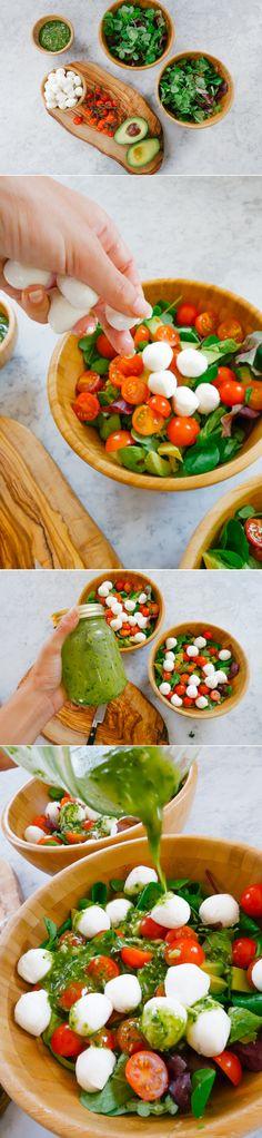 #Caprese #Salad with #Pesto #Dressing - The Londoner