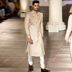 India to the world Shyamal And Bhumika, Indian Groom Wear, Sherwani, Parisian, Bridal Dresses, High Neck Dress, Couture, Clothes For Women, Blouse