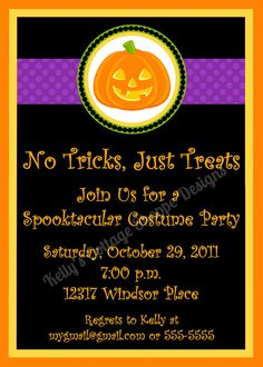 Halloween Party Invitation.... Custom, Printable, Digital