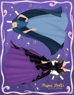 The Little Mermaid paper dolls