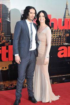 Russell Brand and Katy Perry at UK premiere of Arthur