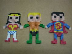 Justice League fridge magnets set of 6 by 8BitMuffin on Etsy, $25.00