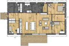 LATO 136 XB - Kannustalo House Plans, Sweet Home, Floor Plans, Layout, Flooring, How To Plan, Architecture, Building, Inspiration