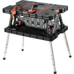 Keter Folding Work Table 750 lb Capacity with Extendable Legs | eBay