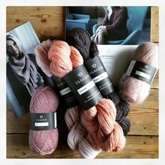 «I've just been sent the most gorgeous, fabulous yarny present... Thank you #isager I am totally in love! #knittinglove #isagergarn»
