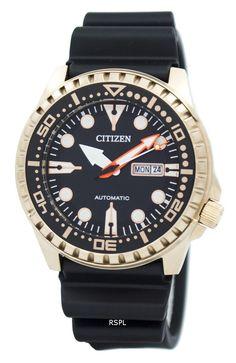 #Citizen #Automatic 100M NH8383-17E Men's Watch Authentic Watches, Online Watch Store, Citizen Eco, Black Rubber, Watch Sale, Watches Online, Watch Brands, Stainless Steel Case, Omega Watch
