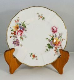 Vintage Royal Crown Derby Posies Flowers Floral Bone China Side plate England in Pottery, Glass, Pottery, Porcelain, Royal Crown Derby | eBay!