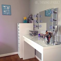"themakeup-addict: ""Went out and bought the Alex Drawer Unit at IKEA last night and I LOVE it! """