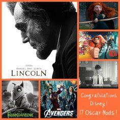 The Walt Disney Studios Receive 17 Oscar Nods