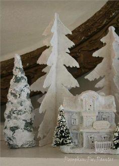 Pumpkin, Pie, Painter: Cereal Box Christmas Trees