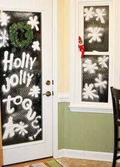 Elf on the Shelf does spray snow