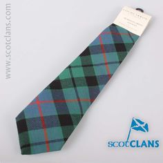 Morrison Hunting Ancient Tartan Tie. Free worldwide shipping available.