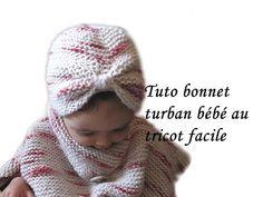 Les tutos de Fadinou: TUTO BONNET TURBAN POUR BEBE AU TRICOT