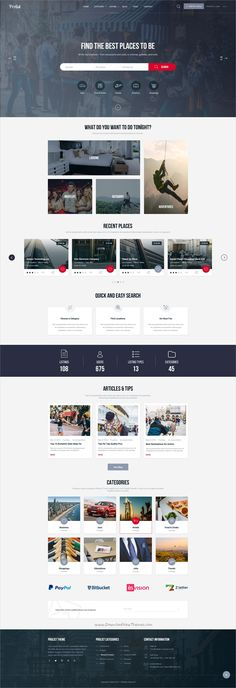 Prolist is a professionally designed #Photoshop Template for #Directory & Listing #website with 5 homepage layouts and 43 well organized PSD files download now➩ https://themeforest.net/item/prolist-directory-listing-psd-template/19265751?ref=Datasata