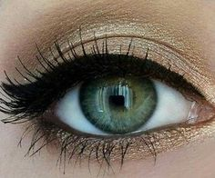 gold shimmer eye sha
