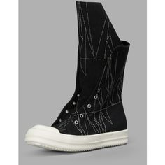 Rick Owens Drk Shdw Sneakers (2.800 RON) ❤ liked on Polyvore featuring shoes, sneakers, black, cotton shoes, drkshdw shoes, zip sneakers, zipper shoes and toe cap shoes