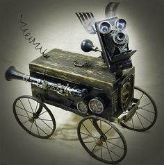 STANLEY STEAMPUNK - The Hero Of The Highway Robot Dog Assemblage - Reclaim2Fame