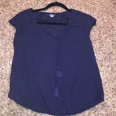 Aerie navy blue top Worn once aerie Tops