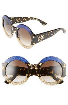 d2592af5ac Gucci 51mm Round Sunglasses