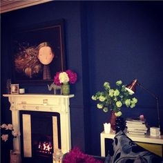 An inspirational image from Farrow and Ball stiffkey blue wow! My Spare Room, Stiffkey Blue, Dilema, Classic Interior, Blue Bedroom, Farrow Ball, Living Room Decor, Dining Room, Room Inspiration