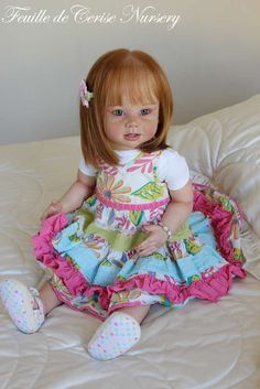 FEUILLE DE CERISE NURSERY - Reborn baby toddler kit Bonnie Linda Murray doll