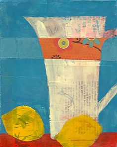 laurie breen--contemporary mixed media still-life and abstract paintings & art for children's spaces: sold artwork Fruit Painting, Painting Collage, Figure Painting, Collage Art, Abstract Paintings, Abstract Portrait, Portrait Paintings, Art Paintings, Collages