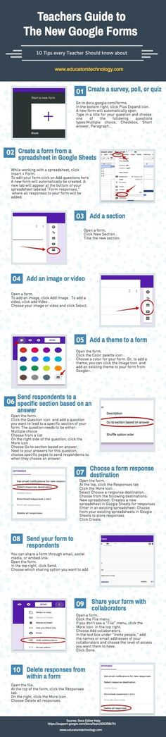 A Handy Infographic Featuring 10 Important New Google Forms Tips for T... via @juandoming http://sco.lt/...